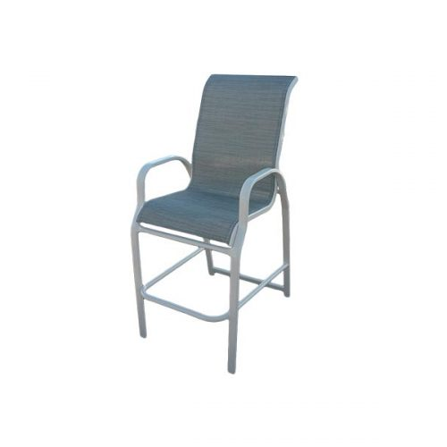 Sling bar stool i 75 aluminum chaise lounges - Chaise bar metal ...