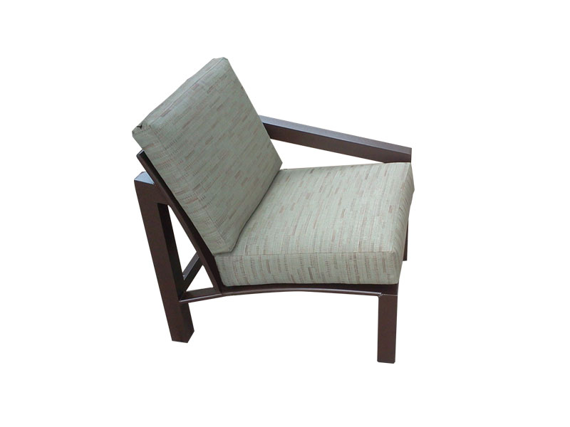 M 50lcu left arm chair aluminum chaise lounges for Armed chaise lounge
