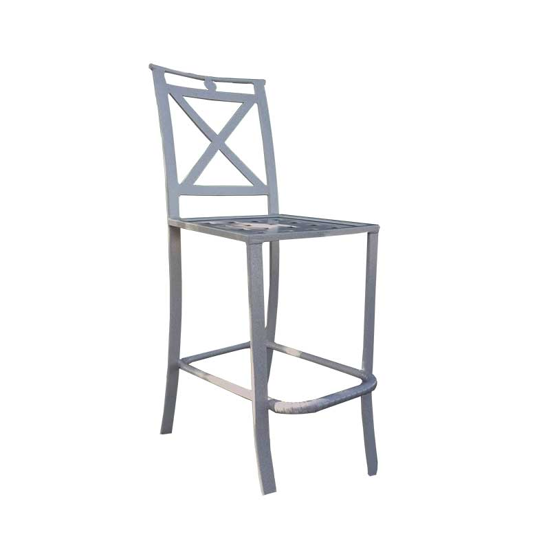Sheet cast all aluminum bar chair sc 77d aluminum - Chaise bar metal ...