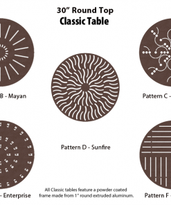 C-30PUNCH - 30 inch Round Table