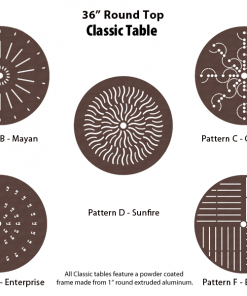 C-36PUNCH - 36 inch Round Table