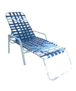 Regal Cross Strap Chaise Lounge - R-150C