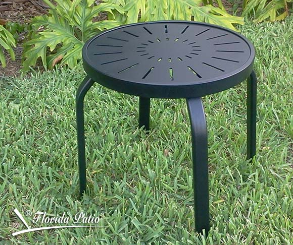 Aluminum Patio End Table R 18punch Chaise Lounge