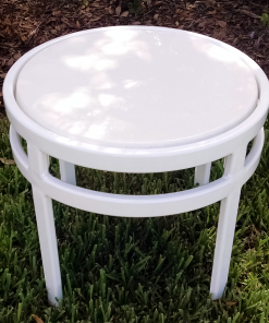 Regal Fiberglass Top Round Side Table