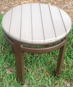 Round Eco Wood Side Table
