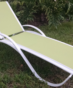 Garden Green Sling Chaise Lounge